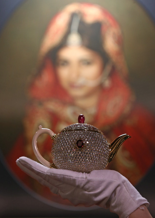The most expensive teapot (The Egoist) on show in London ahead of National Tea Day (Yui Mok/PA) | The Egoist