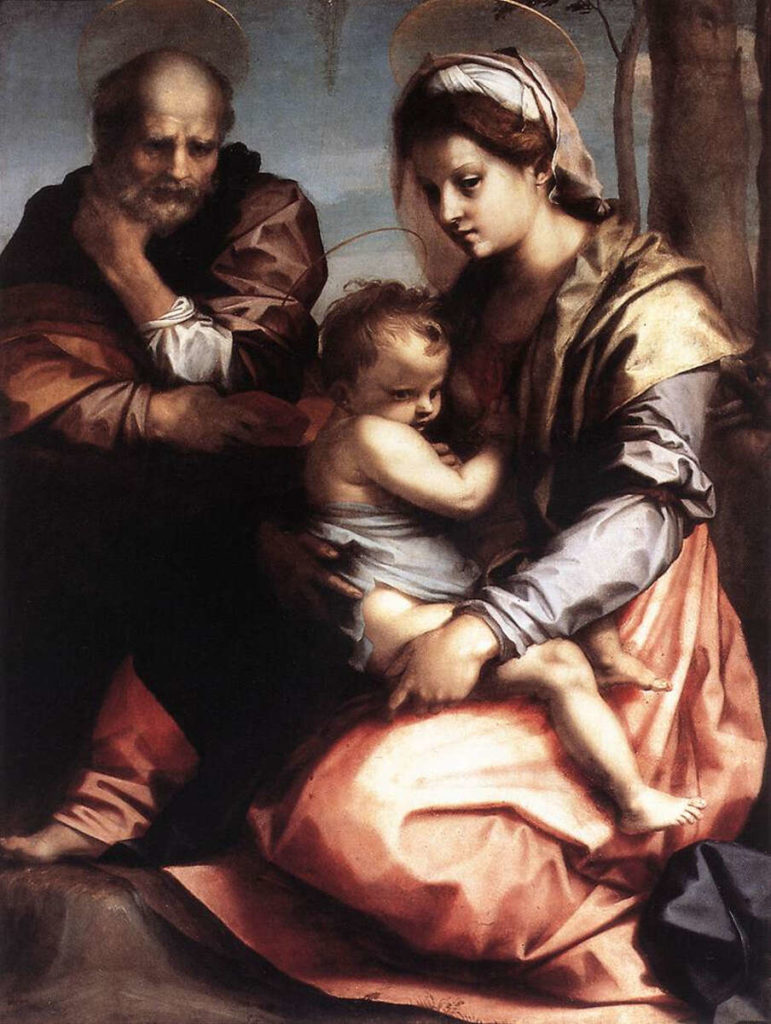 """The Barberini Holy Family"" (1528) by Andrea del Sarto"