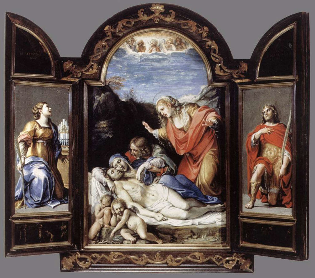 Triptych (1604–05) by Annibale Carracci