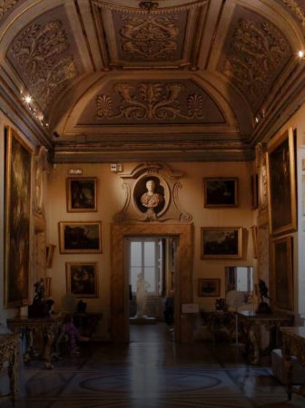 Great Renaissance and baroque paintings at the Galleria Nazionale d'Arte Antica in the Palazzo Corsini alla Lungara