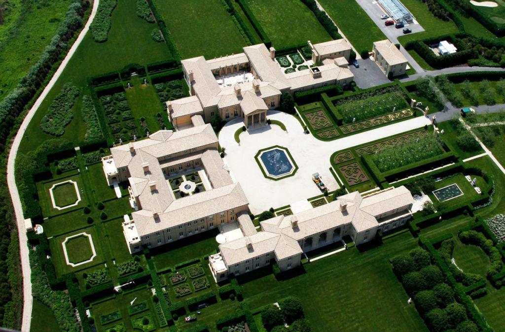 Ira Rennert's Hamptons mansion - Top View