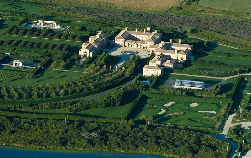 Ira Rennert House - Fair Field House - Aerial Photo