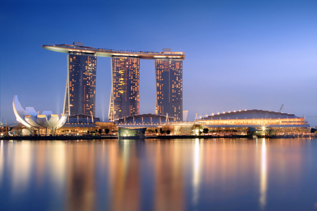 Ce La Vi Singapore Restaurant. The Stunning Panoramic View At Marina Bay Sand