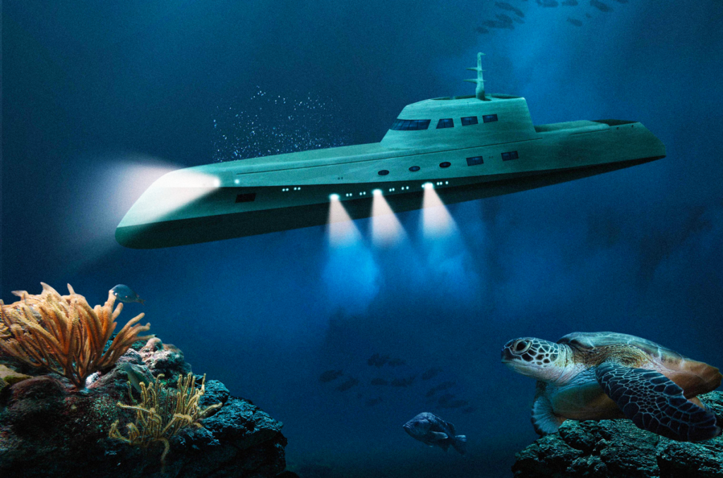 A Billion-Dollar Underwater Hotel - Lover's Deep Submarine | The Submarine Dives underwater