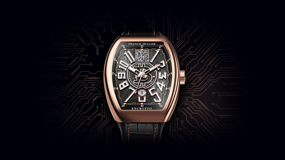 "Impossible to Hack! | World's First Functional Bitcoin Watch ""Encrypto"". The $55,800 watch launched By The Swiss Luxury Watchmaker Franck Muller."