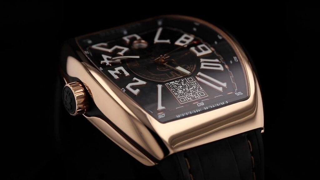 "Time Is a Luxury | World's First Functional Bitcoin Watch ""Encrypto"". The $55,800 watch launched By The Swiss Luxury Watchmaker Franck Muller."