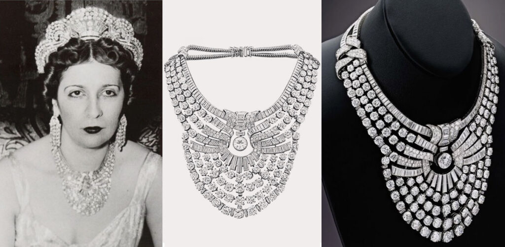 The Van Cleef & Arpel Diamond Necklace of Egypt's Queen Nazli Sabri, Sells For Only €3.82 Million!