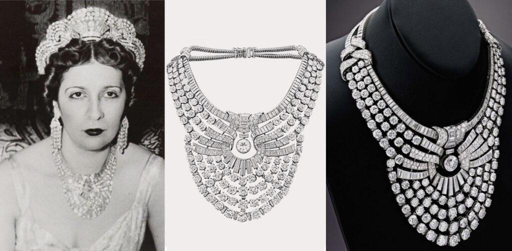 قلادة فان كليف أند آربيل الماسية لملكة مصر نازلي صبري تباع بـ 3.82 مليون يورو فقط!