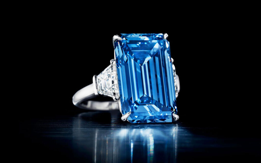 The Oppenheimer Blue is the second most expensive jewel to sell at auction. It went under the hammer for $57.7 million at Christie's Geneva in May 2016.