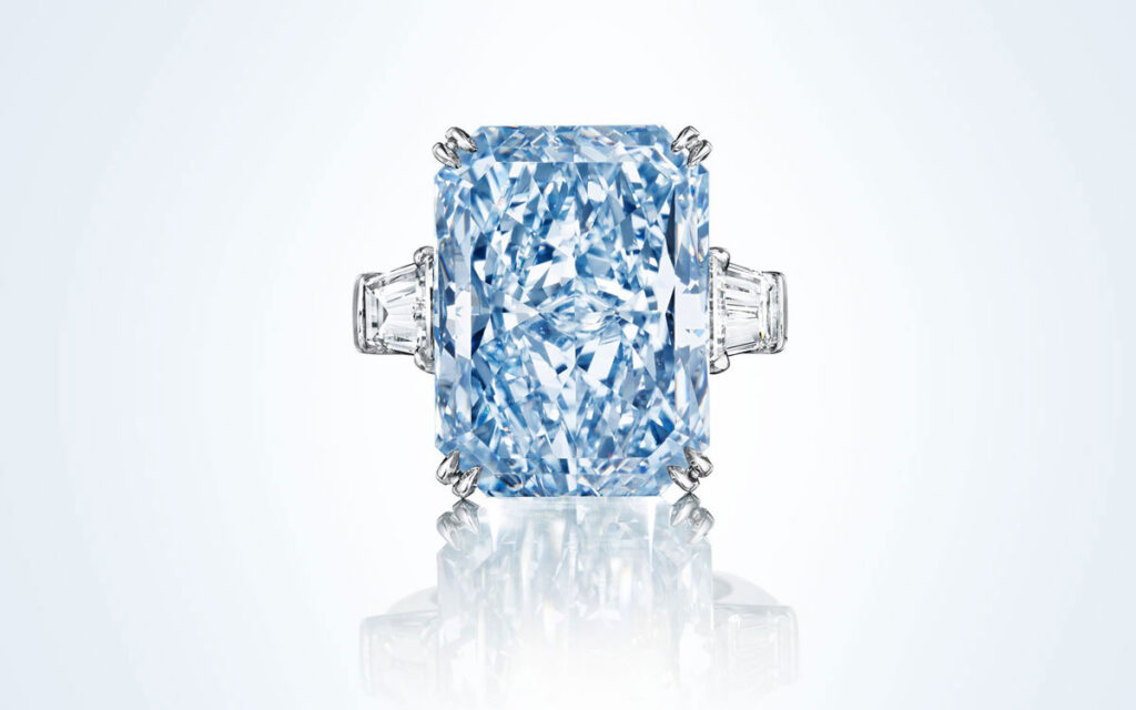 The 24.18ct Cullinan Dream - the largest Fancy Intense blue diamond to ever appear at auction -  sold for $25.4 million at Christie's New York in June 2016.
