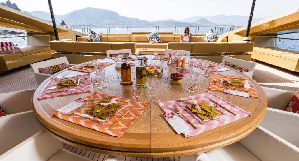 Khalila exceptional deck areas palmer johnson yacht