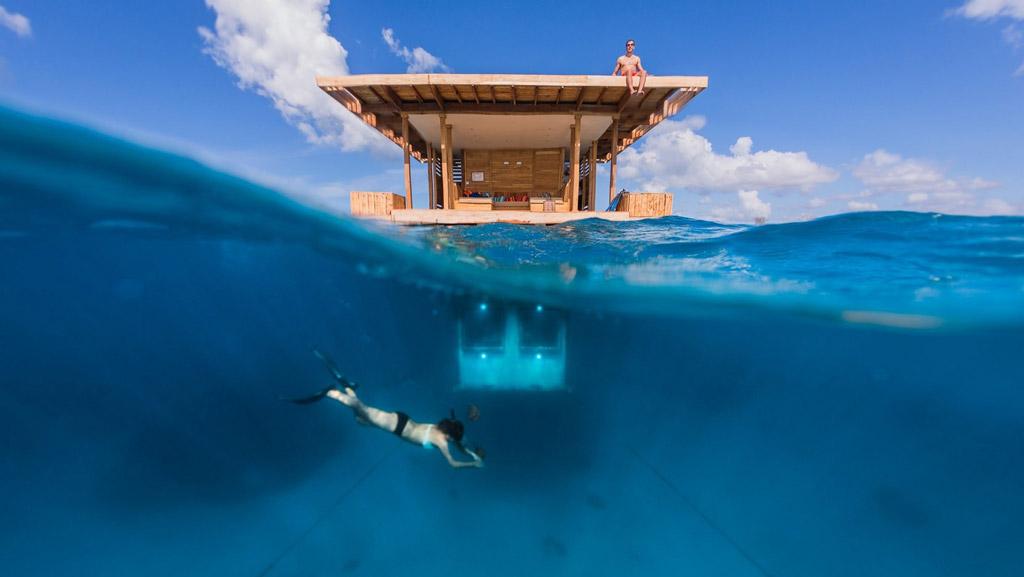 Top Ten Underwater Hotels - The Manta Resort in Tanzania