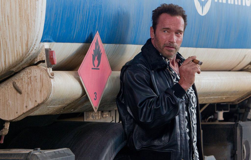 Celebrities With Leather Jackets - Arnold Schwarzenegger