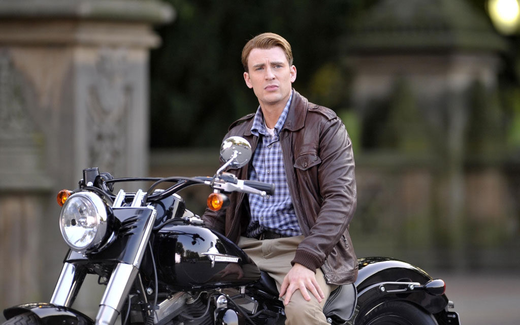 Celebrities With Leather Jackets - Chris Evans