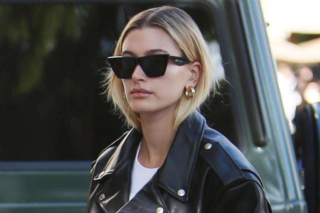Celebrities With Leather Jackets - Hailey Baldwin Bieber