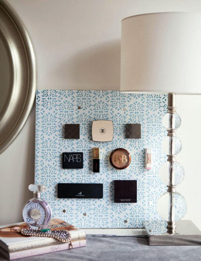 Makeup organization ideas - Magnetic Metal Display Board