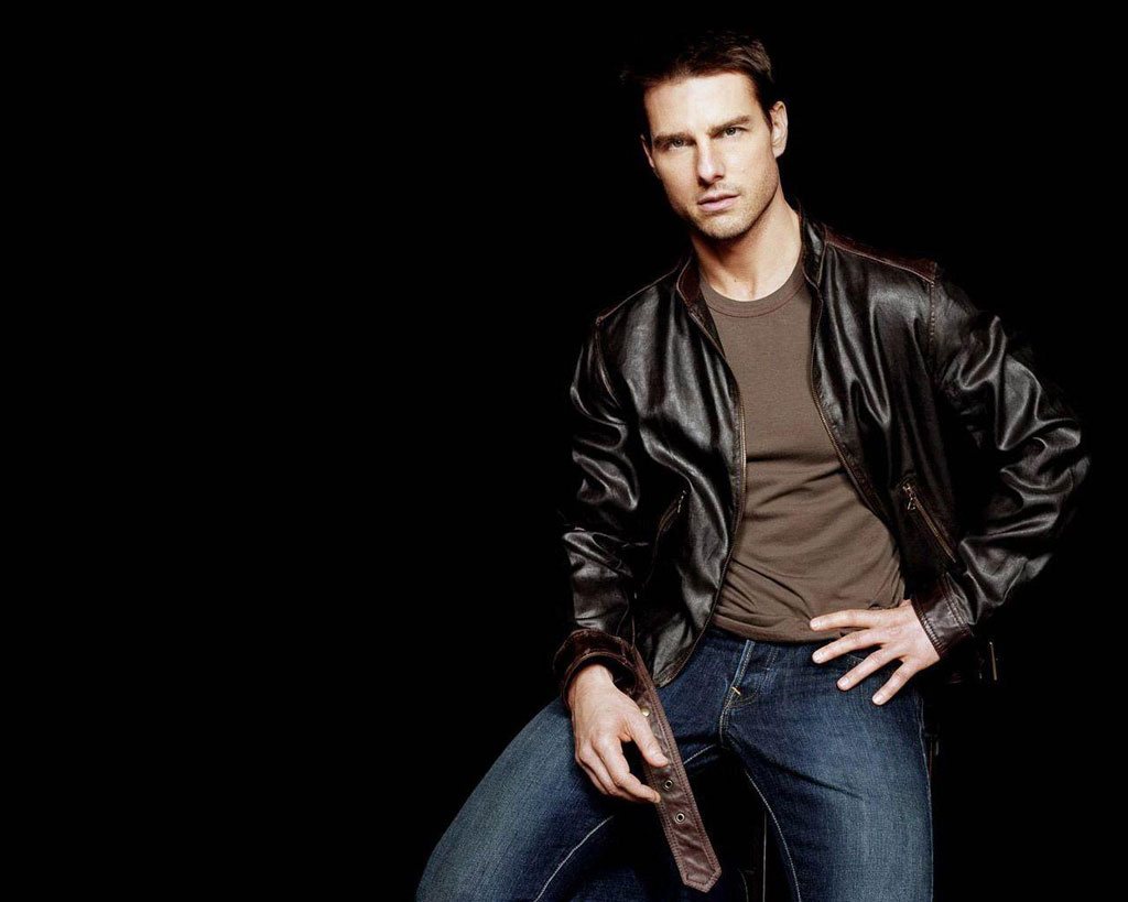Celebrities With Leather Jackets - Tom Cruise
