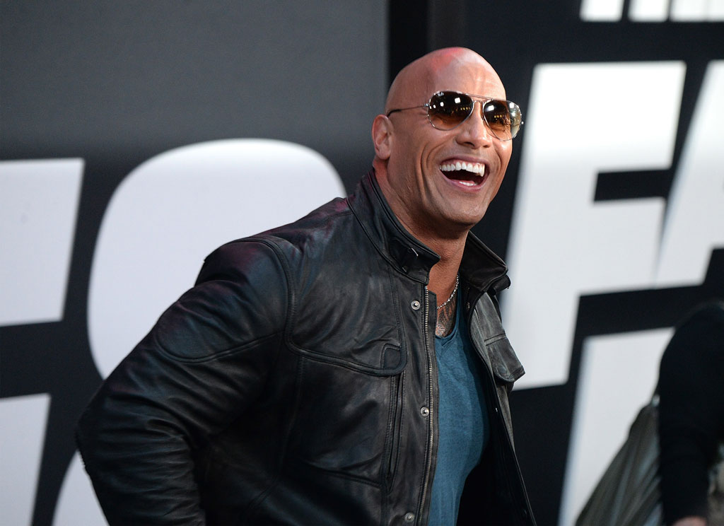 Celebrities With Leather Jackets - Dwayne Johnson