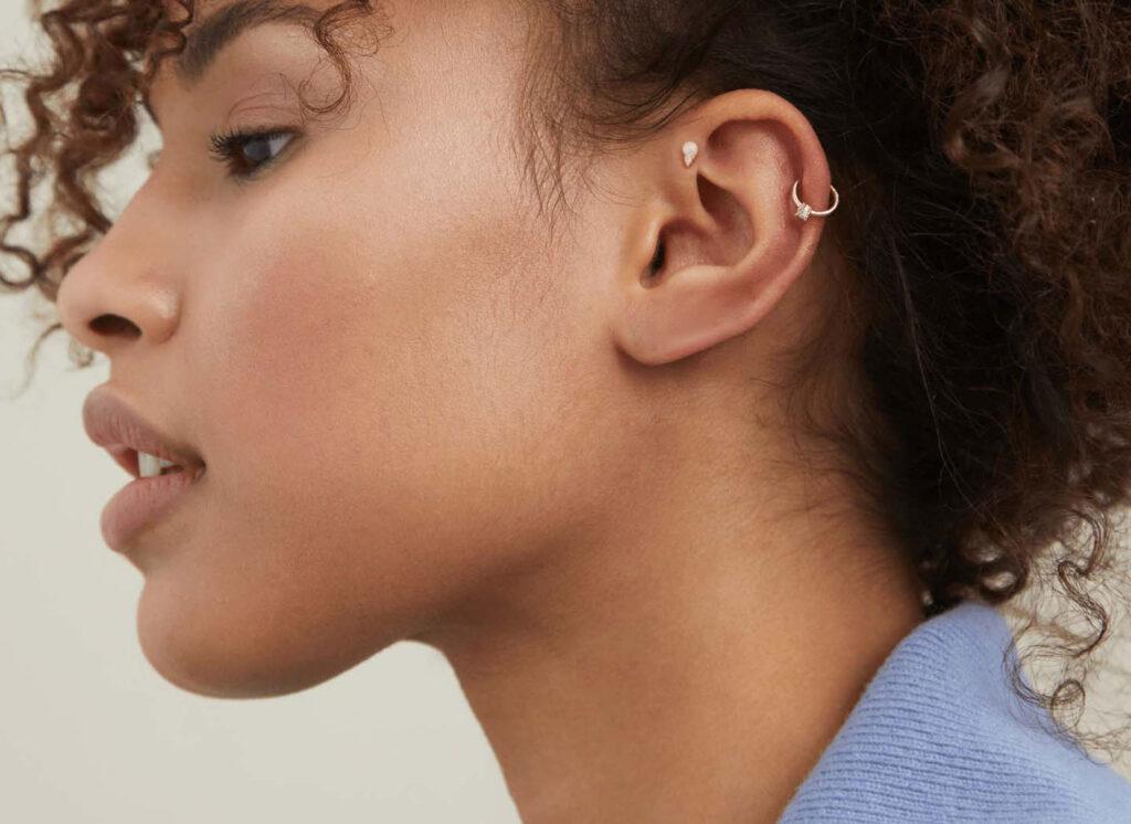 Ear Piercings - Helix  Forward Helix