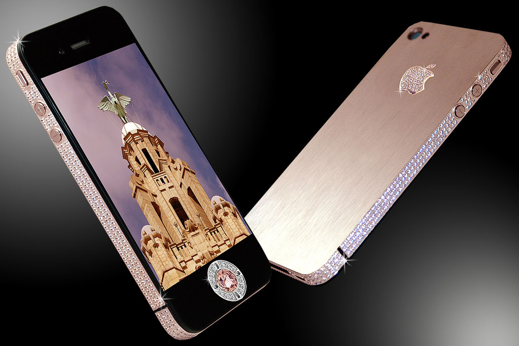 Most expensive phones - iPhone 4 Diamond Rose Edition