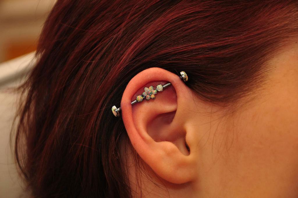 Ear Piercings -  Industrial (or Scaffolding)